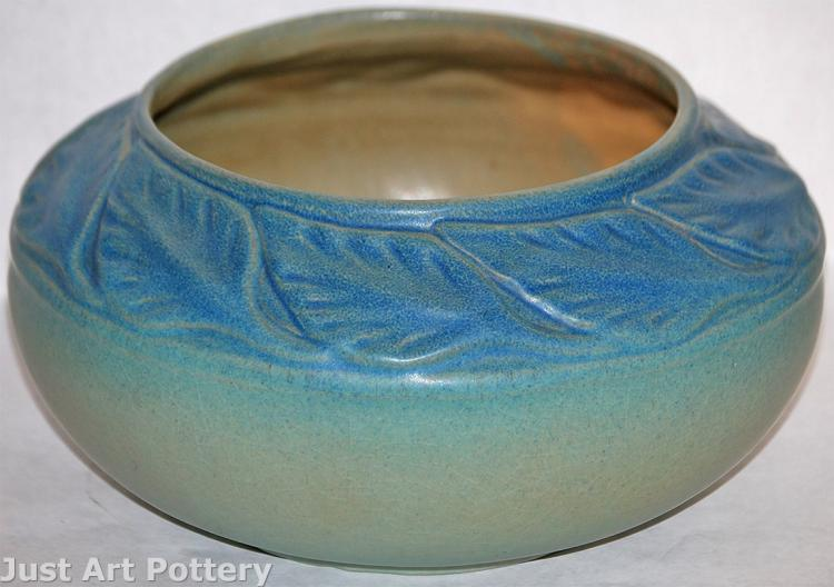 Van Briggle Pottery Late Teens Large Leaves Bowl (Shape 828)