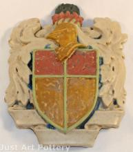 Rookwood Faience Pottery Coat of Arms Wall Hanging Plaque