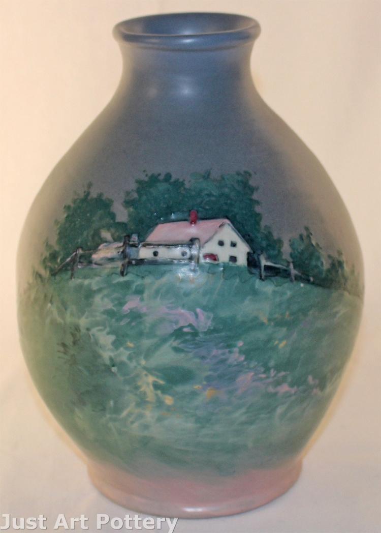 Weller Pottery Hudson Scenic Vase (Timberlake)