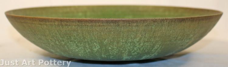 Natzler Pottery Verdigris Metallic Green Large Bowl