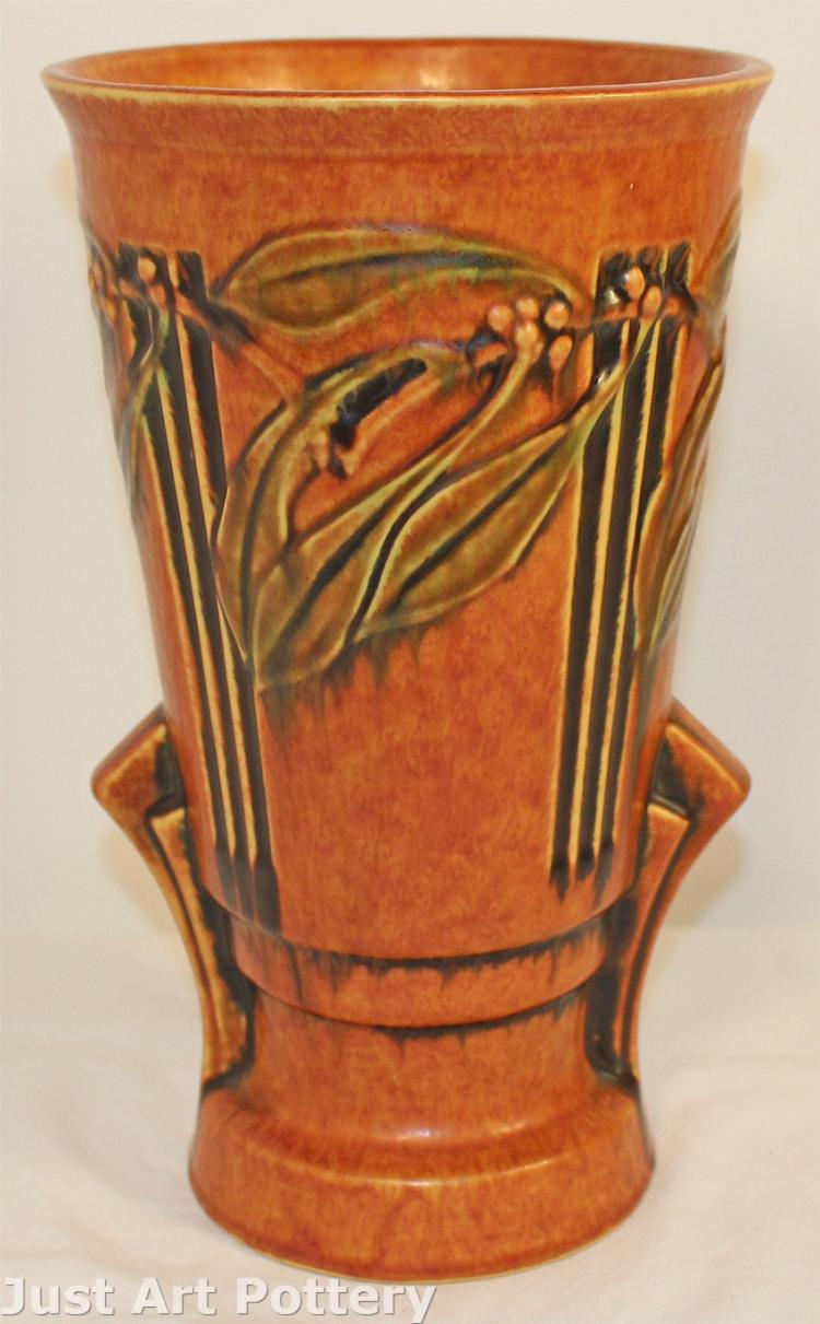 Roseville Pottery Laurel Red Vase 677-12
