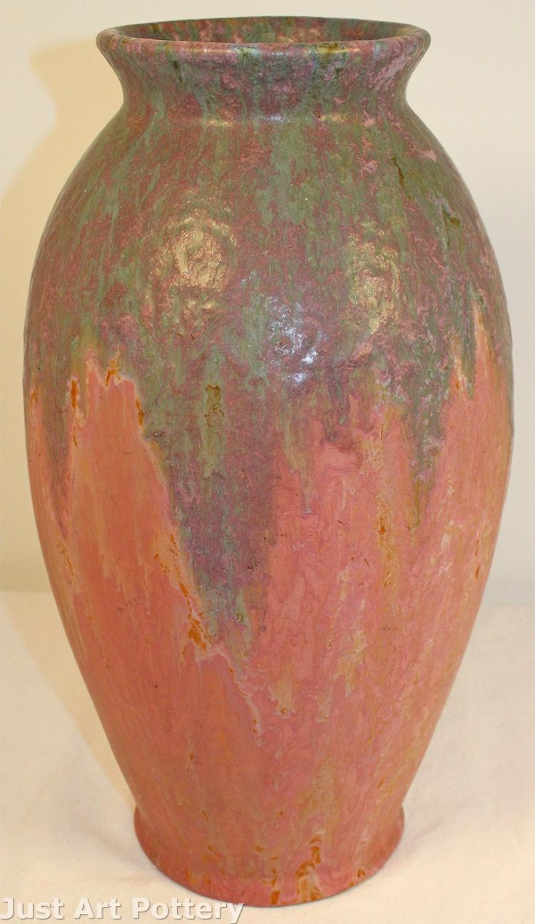 Roseville Pottery Carnelian II Red Large Vase