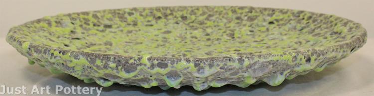 Freiwald Pottery Lava Glaze Low Bowl