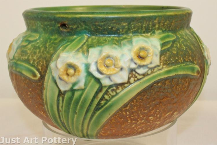 Roseville Pottery Jonquil Hanging Basket
