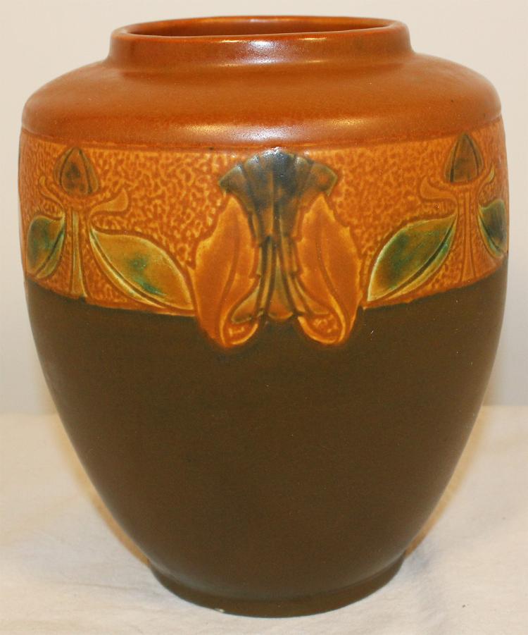 Roseville Pottery Victorian Art Trial Glaze Vase