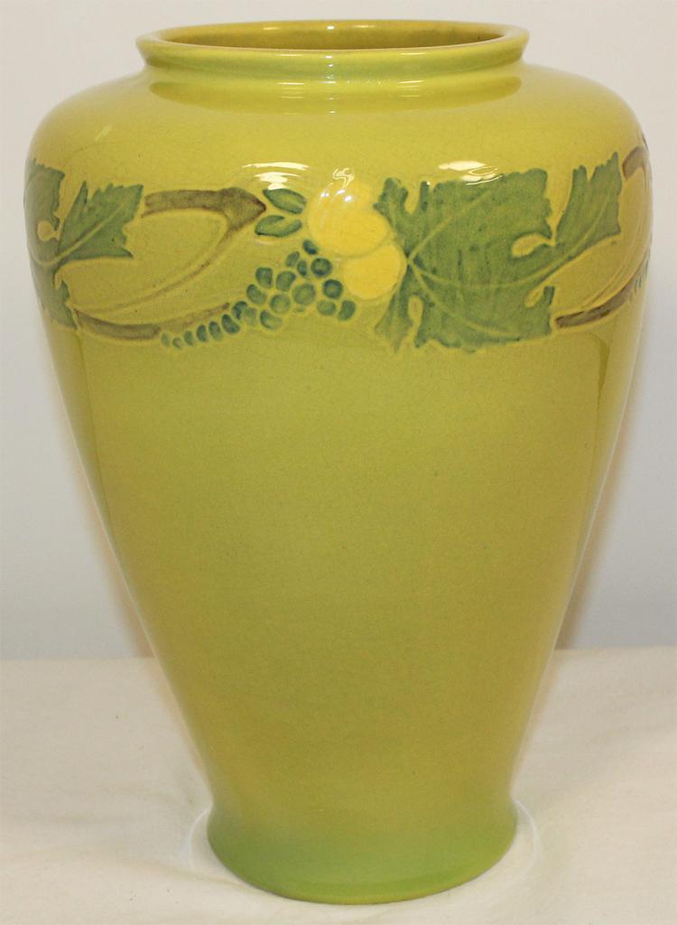 Roseville Pottery Victorian Art Yellow Vase 263-10