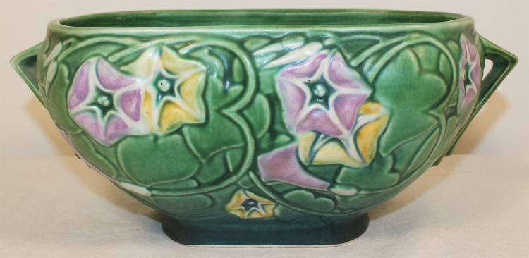 Roseville Pottery Morning Glory Green Bowl 270-8
