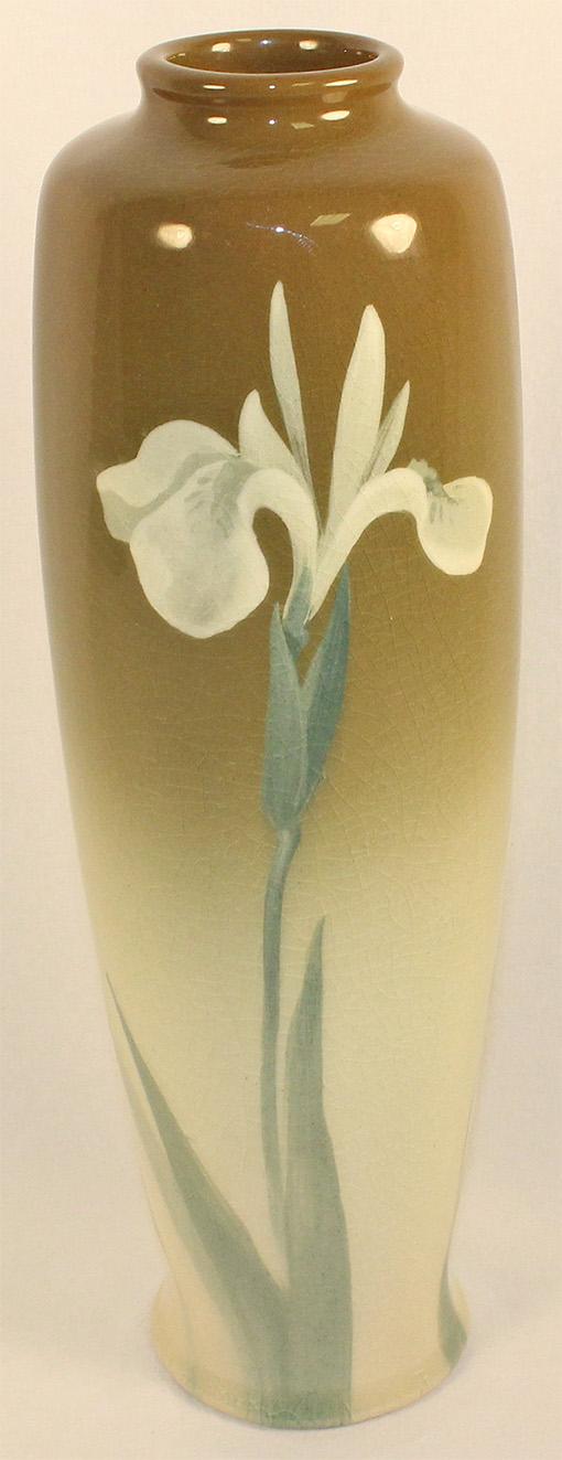 Owens Pottery Lotus Iris Vase (Chilcote)