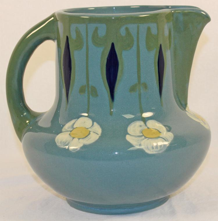 Weller Pottery Rhead Faience Floral Pitcher