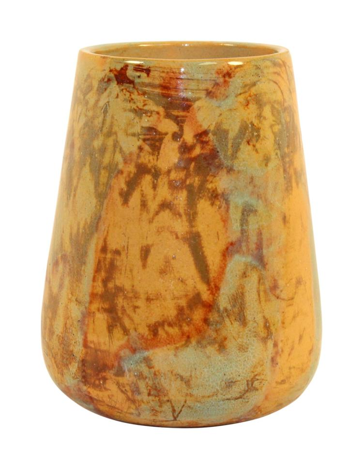 University of North Dakota Pottery Mottled and Swirled Glazed Vase (Mattson)