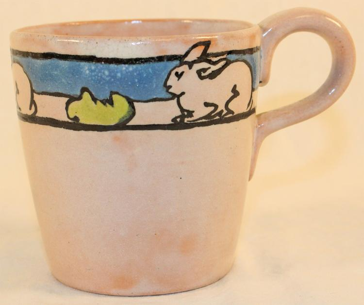 Saturday Evening Girls Paul Revere Pottery Rabbit Mug
