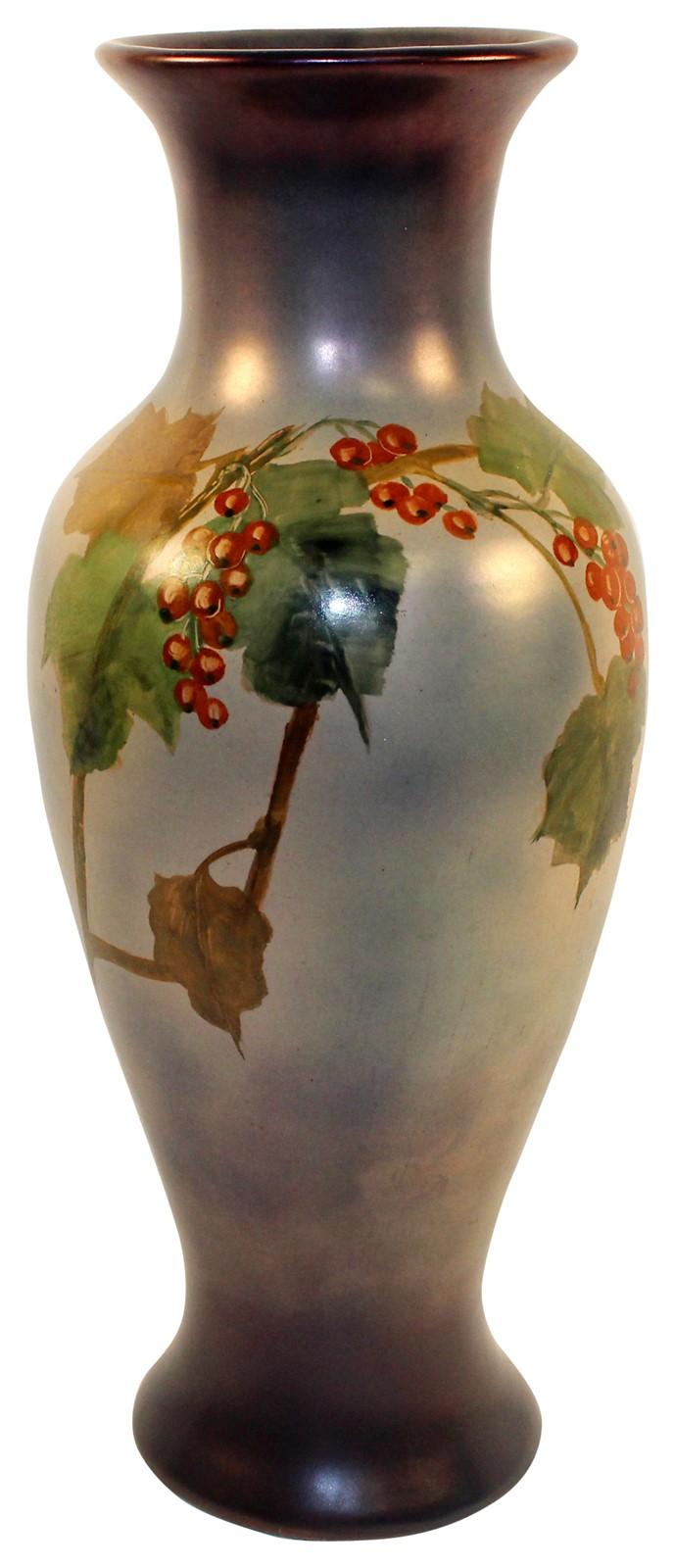 Roseville Pottery Pauleo Decorated Floor Vase