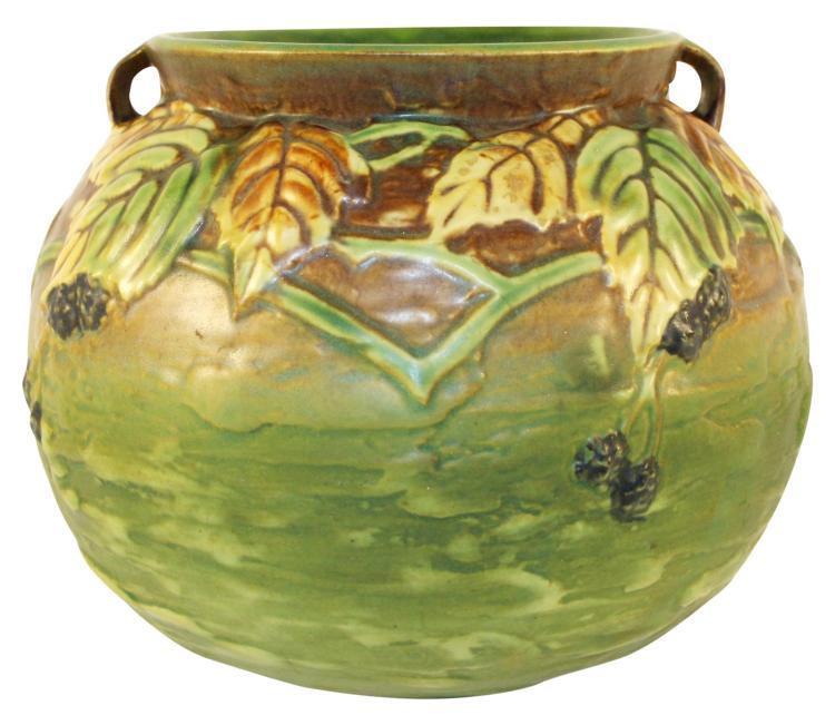 Roseville Pottery Blackberry Vase 574-6