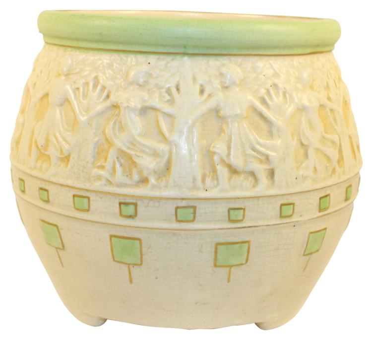 Roseville Pottery Cameo Ceramic Design Jardiniere 489-7