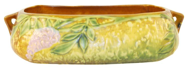 Roseville Pottery Wisteria Tan Console Bowl 243-5