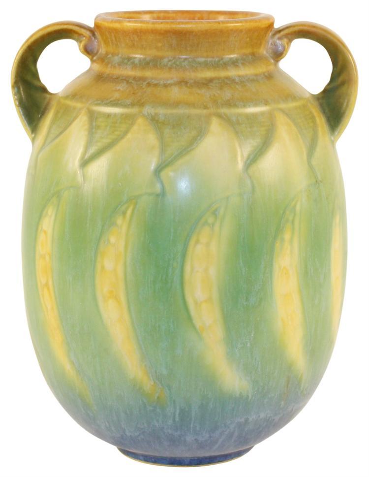 Roseville Pottery Falline Blue Vase 647-7