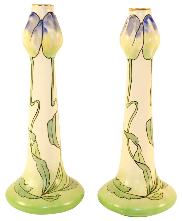 Brush McCoy Pottery Cleo Candle Holders