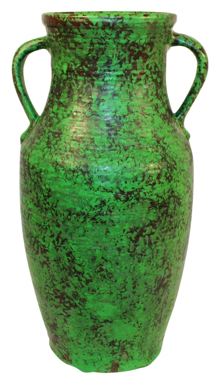 Weller Pottery Coppertone Large Handled Vase