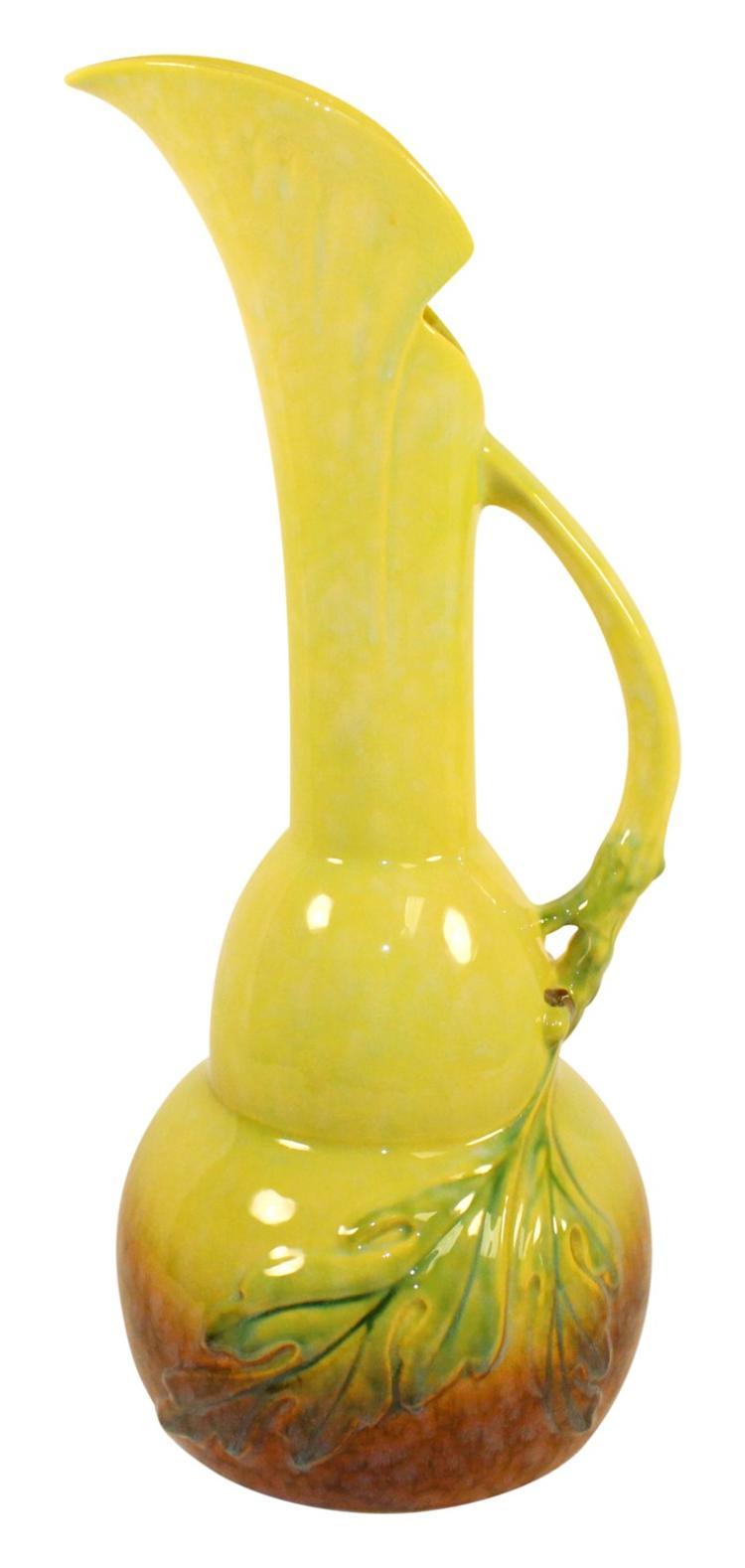Roseville Pottery Wincraft Green Ewer 218-18