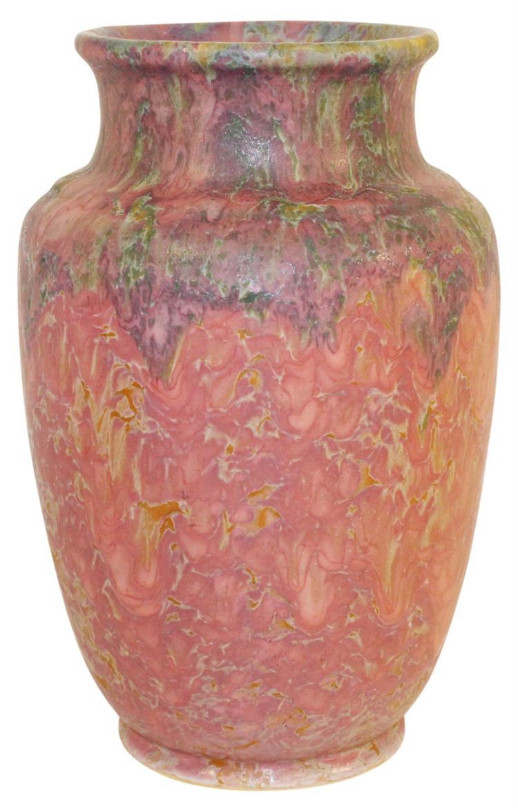 Roseville Pottery Carnelian II Red Vase 314-9