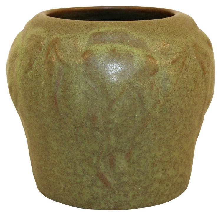 Van Briggle Pottery 1903 Flowers And Leaves Vase Shape 204