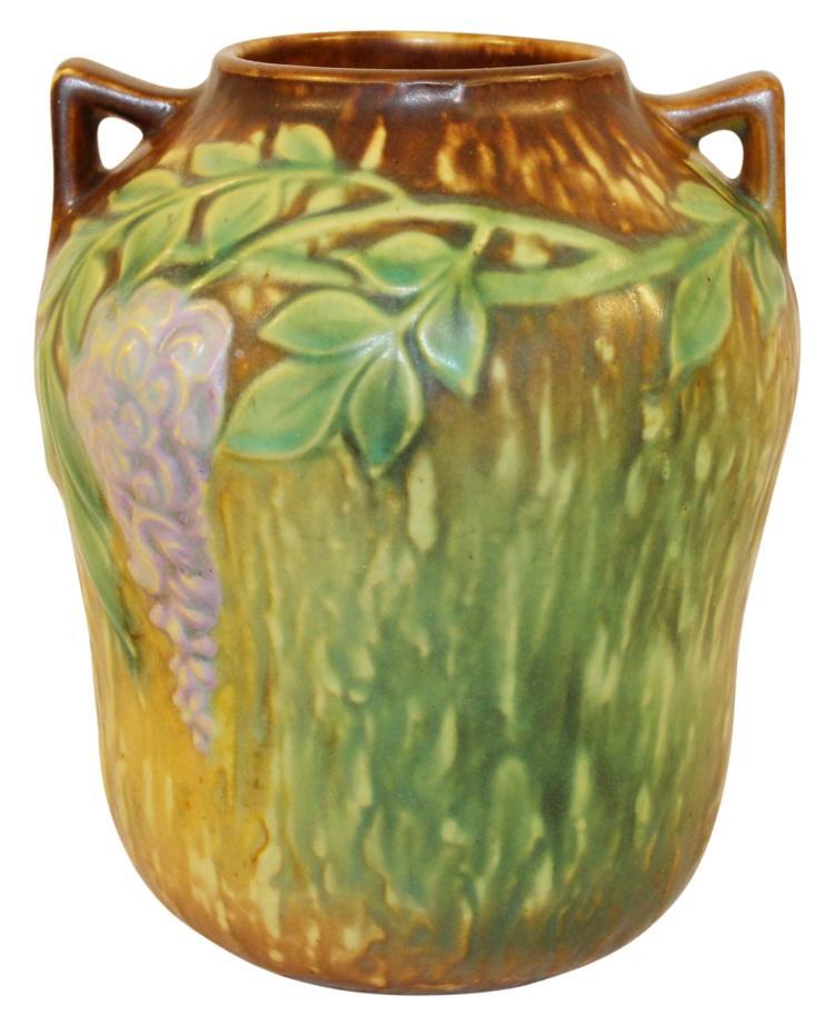 Roseville Pottery Wisteria Tan Vase 634-7