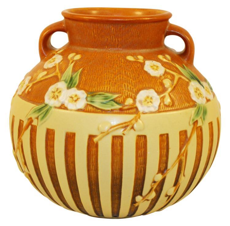 Roseville Pottery Cherry Blossom Vase 625-8