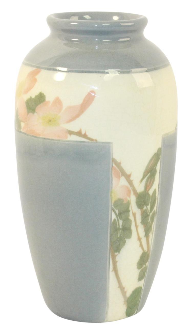 Rookwood Pottery 1907 Iris Glaze Wild Rose Vase 922C (Coyne)