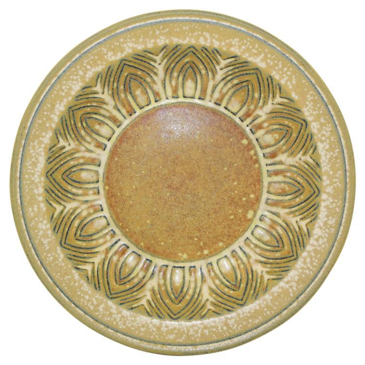 Rorstrand Scandinavian Art Deco Pottery Decorative Plate (Nylund)
