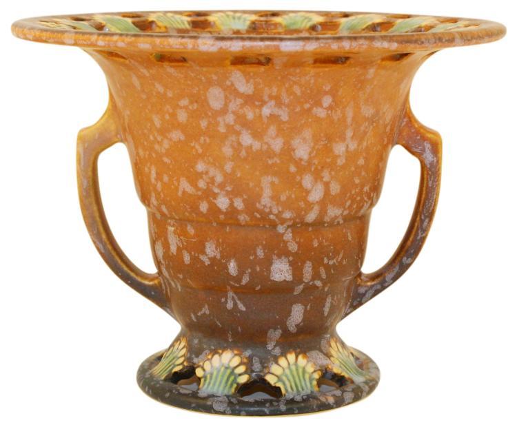 Roseville Pottery Ferella Tan Vase 503-5