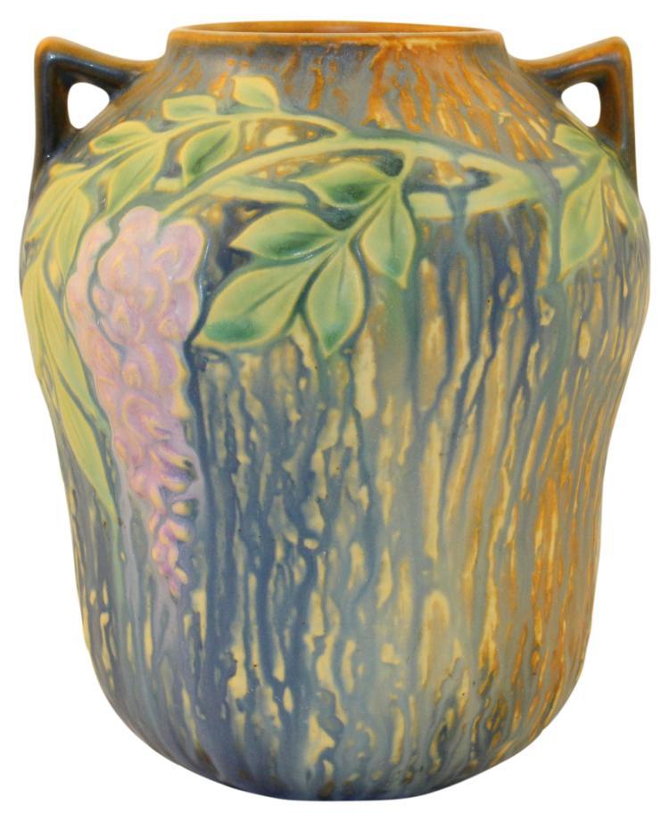 Roseville Pottery Wisteria Blue Vase 634-7