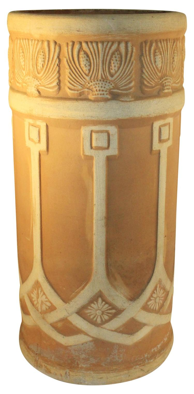 Weller Pottery Teakwood Umbrella Stand