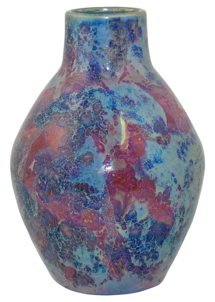 Paul Katrich Pottery Luster Blue and Purple Vase