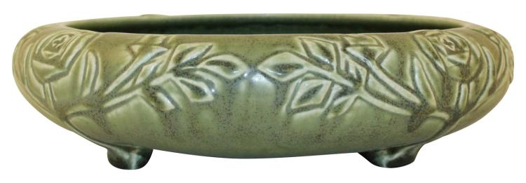 Rookwood Pottery 1922 Four Footed Matte Green Bowl 2171