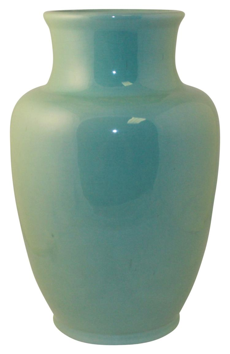 Roseville Pottery Rosecraft Colors Turquoise Vase 181-12
