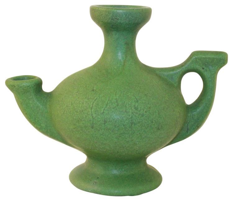 Roseville Pottery Egypto Matte Green Ewer E29-5