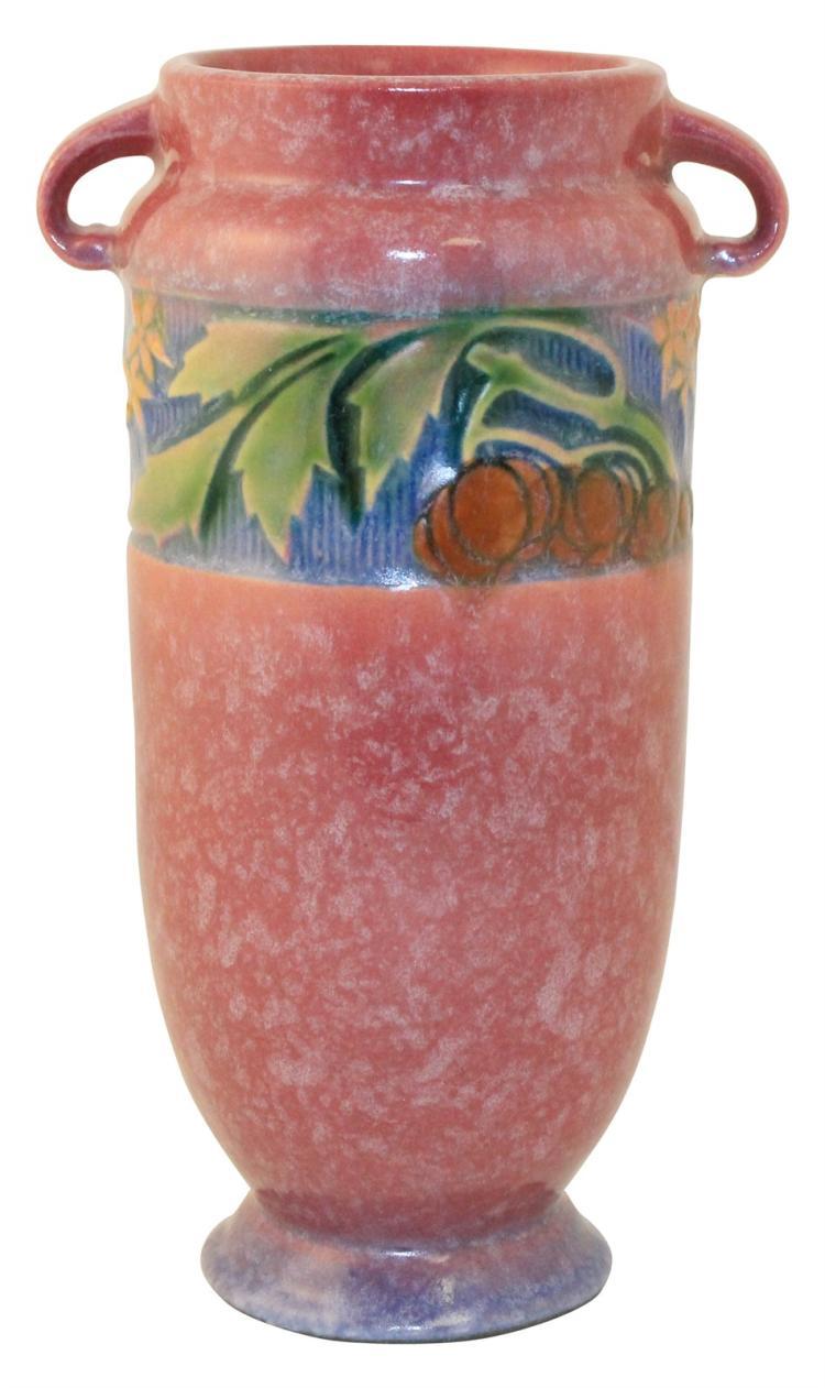 Roseville Pottery Baneda Pink Vase 590-7