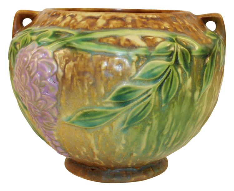 Roseville Pottery Wisteria Tan Vase