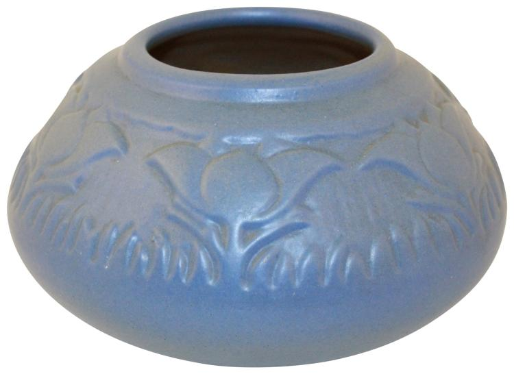 University Of North Dakota Pottery Pasque Flower Blue Vase (Mattson)