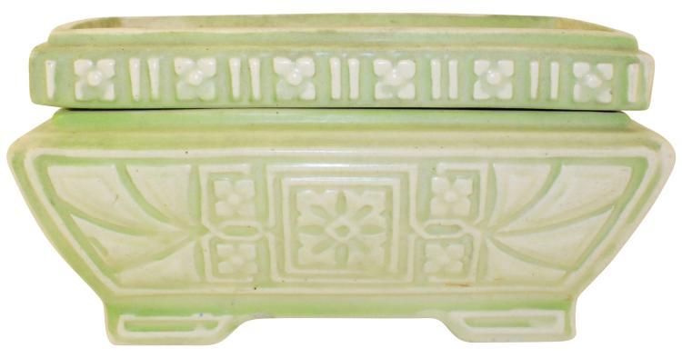 Roseville Pottery Ceramic Design Planter With Liner 210-4