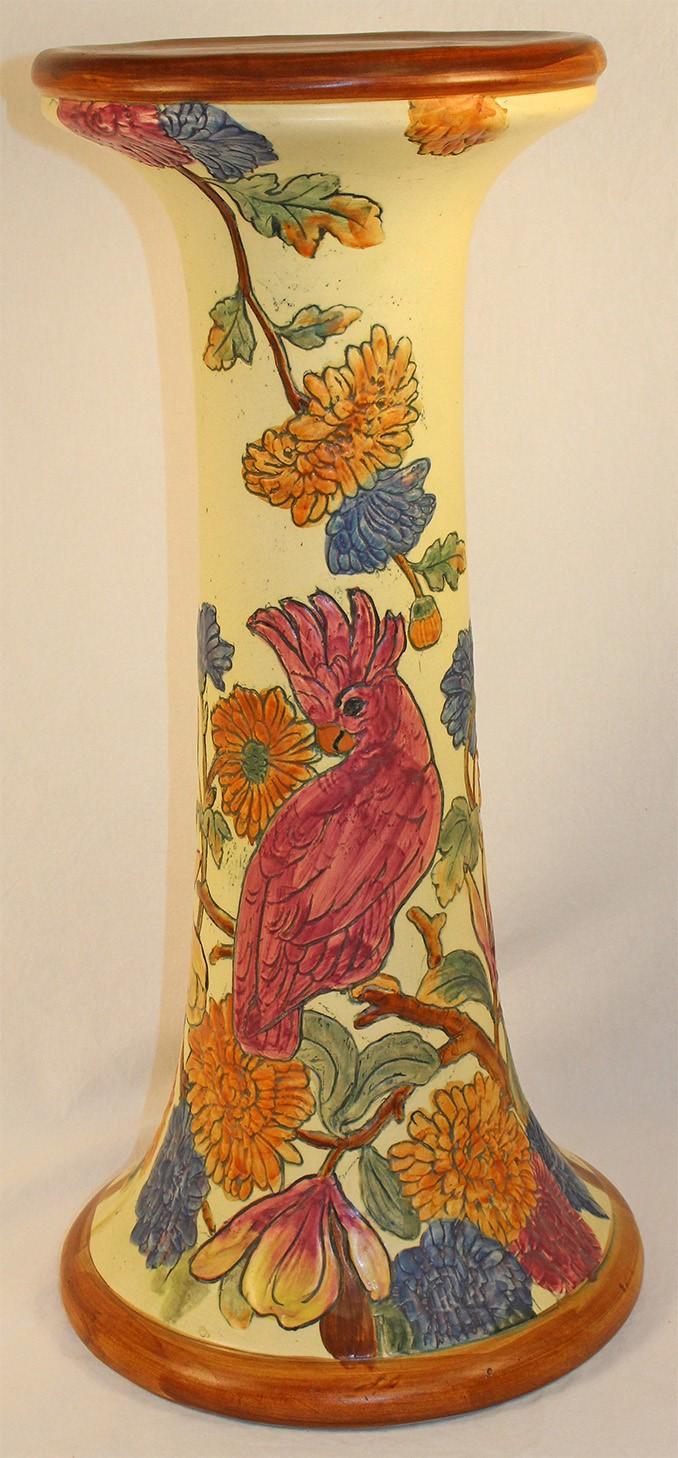 Weller Pottery Flemish Bird Pedestal