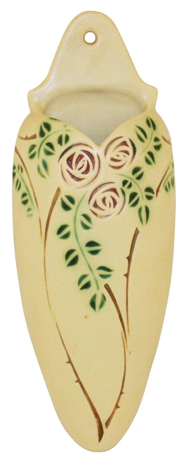 Roseville Pottery Velmoss Scroll Wall Pocket