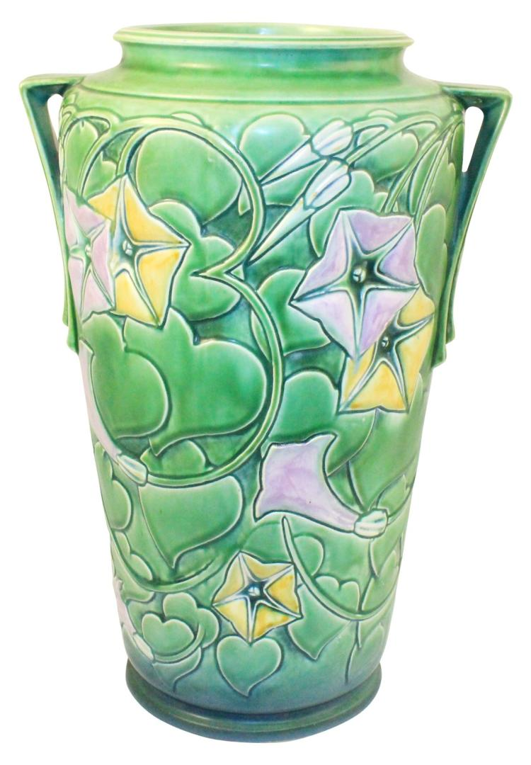 Roseville Pottery Morning Glory Green Vase 732-14