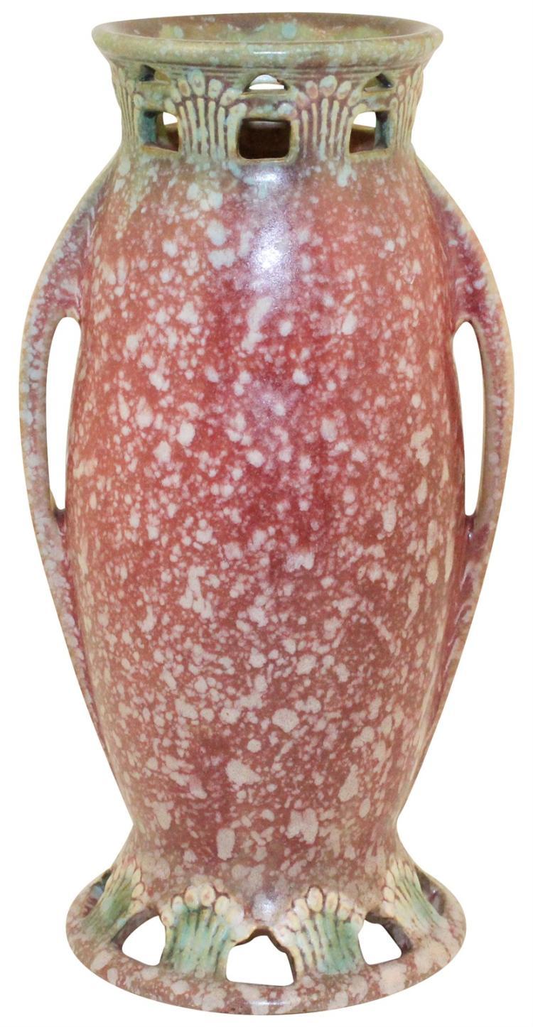 Roseville Pottery Ferella Red Vase 507-9