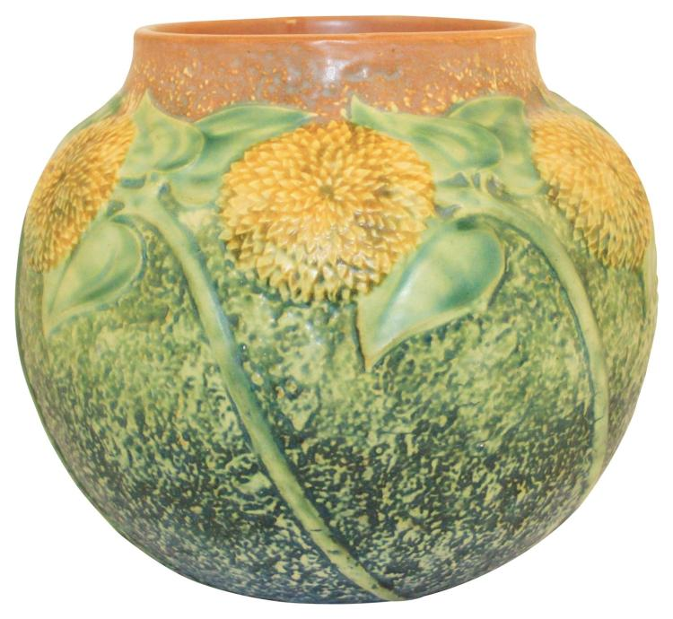 Roseville Pottery Sunflower Vase 489-7