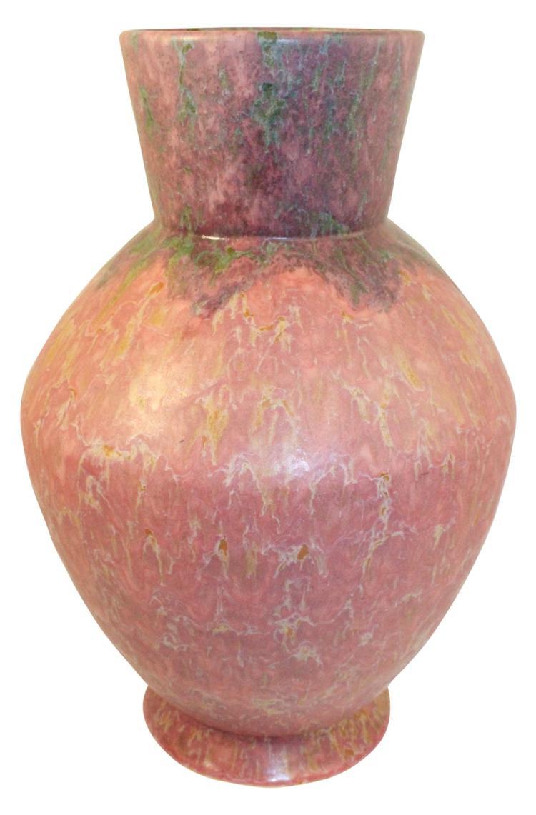 Roseville Pottery Carnelian II Red Vase 454-16