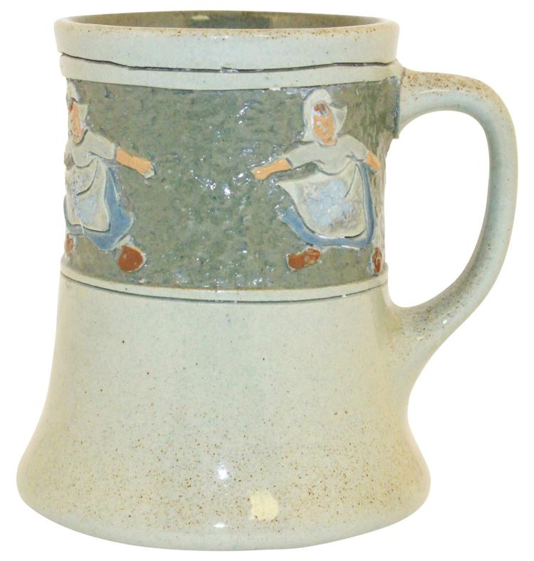 Roseville Pottery Della Robbia Dutch Children Mug 60-4 (Artist Signed)