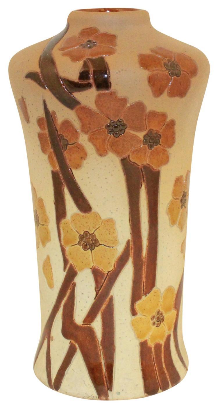 Roseville Pottery Woodland Vase 976-5 (Artist Signed)