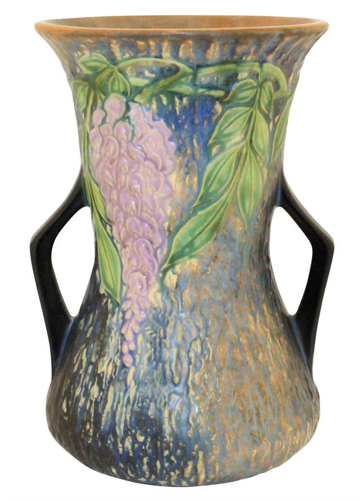 Roseville Pottery Wisteria Blue Vase