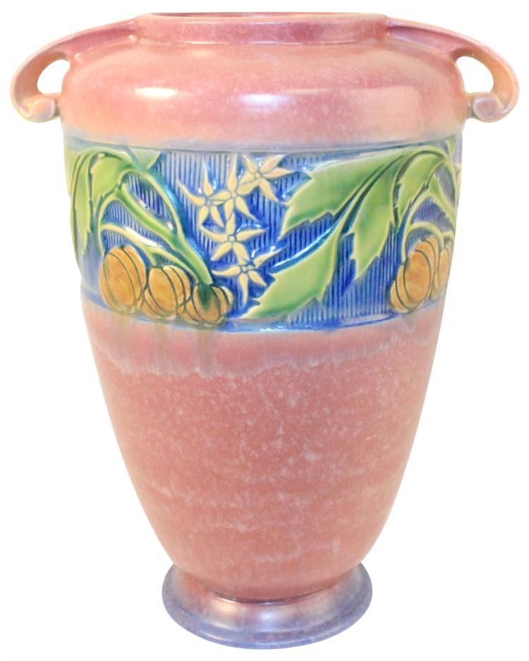 Roseville Pottery Baneda Pink Vase 599-12